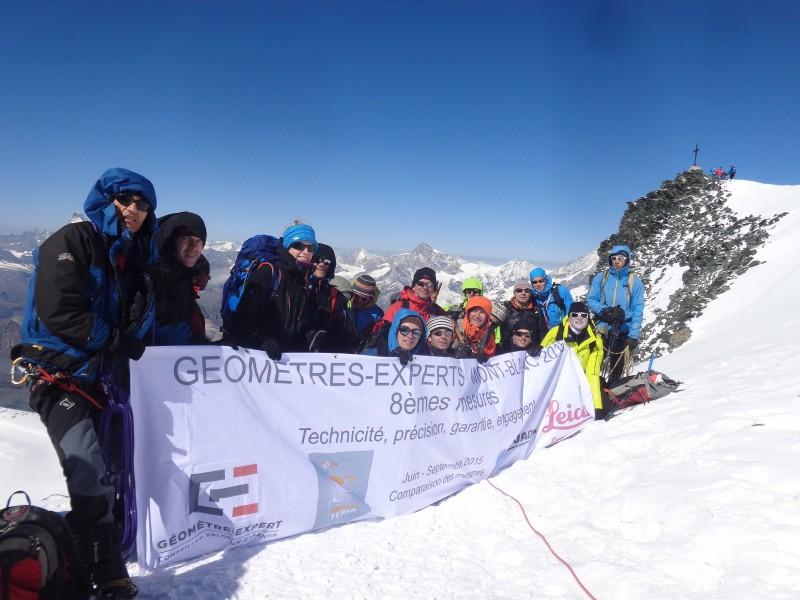 Mesure du Mont-Blanc 2015